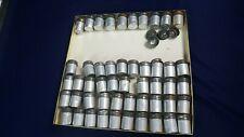 Lot 50 Vintage 35mm Metal Film Canisters Unpainted Tin Aluminum Kodak Most Vg