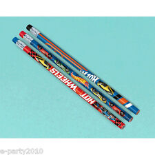 HOT WHEELS Wild Racer PENCILS (12) ~ Birthday Party Supplies Stationery Favors