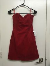 H&M Red Corduroy Dress, Size 8