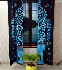 Cotton Elephant Tree Wall Hanging Door Window Curtain Tapestry Drape Valance Art