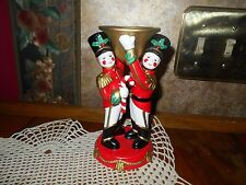 PARTYLITE - Party Lite Christmas Toy Soldier Nutcracker Taper Candlestick Holder