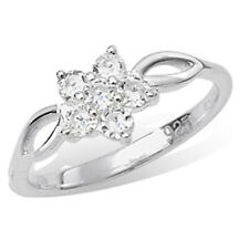 Unbranded Cubic Zirconia Cluster Fine Rings