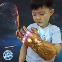 End Game Thanos Gauntlet Glove Cosplay The Avenger Infinity War Hand LED Props