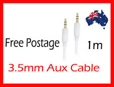3.5 mm to 3.5mm AUX Auxiliary Cable Cord for iPod iPhone MP3 Car Audio White 1m