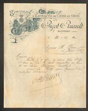 """MANTILLY (61) EAUX-de-VIE de CIDRE """"BIGOT & RUAULT"""" en 1900"""