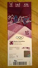 London 2012 ticket Pentathlon Moderne 12 Aug 1435 K36 £ 35 * Comme neuf *