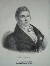 Portrait MINISTRE JACQUES LAFFITTE LOUIS PHILIPPE c1820