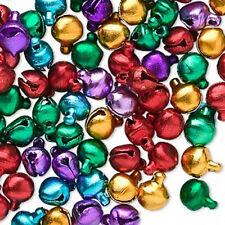 Jingle Bells Multi Color Jewelry Charm ChristmasHoliday Craft 6mm Lot of 100