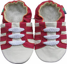 shoeszoo soft leather baby shoe sports fuchsia white 18-24m S