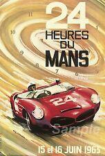 VINTAGE LE MANS 1963 RACING A4 POSTER PRINT