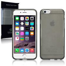 Genuine ad alto impatto in Gomma Gel Custodia Micro sottile nero fumo Paraurti iPhone 6s