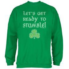 Let's Get Ready to Stumble Irish Green Adult Sweatshirt
