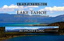 "Train Junkies N Scale ""LAKE TAHOE"" Backdrop  80""x18"" C-10 Mint-Brand New"