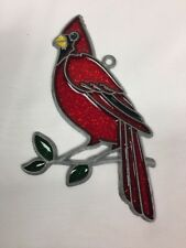 Red Cardinal Suncatcher Ornament Vintage NOS
