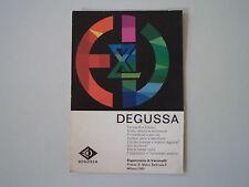 advertising Pubblicità 1968 DEGUSSA