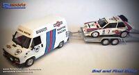 1/43 Rally Assistance Fiat Ducato Lancia Martini Delta 037 No Spark Ixo Altaya