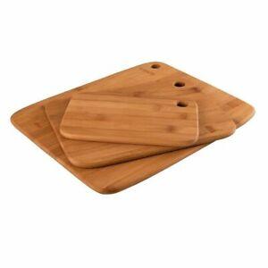 NEW PEER SORENSEN Long Grain Bamboo 3 Piece 3pc Cutting Chopping Board Set