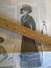ANCIEN GALON ROI SOLEIL LOUIS XIV TON OR ANCIEN   CHARLES MATHIEU vendu au mètre