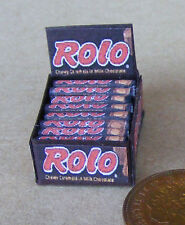 Display Box Of Rolo Chocolate Toffee Packets Dolls House Miniature Sweet Shop