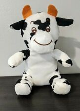 "World Plush Inc black and white cow Stuffed Animal Plush 10"""