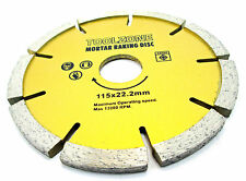 Mortaio rastrellatura Diamond Disc muratura di puntamento Raker 115x22.2x6MM Nuovo TZ AB090