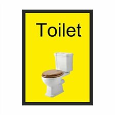 Toilet Dementia Sign  200mm x 300mm Self-Adhesive  (DMS-08-SA)