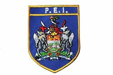 PRINCE EDWARD ISLAND  Blue Shield CANADA Prov. Flag IRON-ON PATCH CREST BADGE