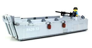 LCVP Higgins Boat WW2 Landing World War 2 Complete Set made w/ real LEGO® bricks