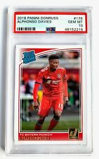 2018 Donruss Soccer Alphonso Davies Rated Rookie Card #176 PSA 10 GEM MT!