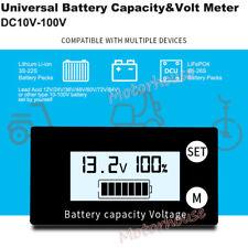Universal Digital LCD Battery Capacity Level Percentage Voltage Meter Indicator