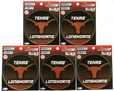 """Lot of 5 Officially Licensed 4 1/2"""" round decals Texas Longhorns"""