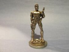 Pewter Warrior With A Gun Figurine 2 1/2 inches tall