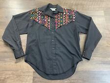 Vintage H Bar C Ranchwear Woman's Sz Sm Southwest Aztec Pearl Snap Shirt