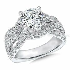 3.61 ct Round cut white moissanite beautiful wedding engagement ring 925 silver