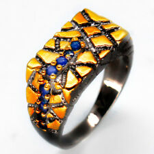 Handmade Fashion Jewelry Natural Blue Sapphire 925 Sterling Silver Ring / RVS55
