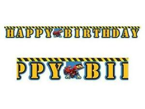 Under Construction Happy Birthday JOINTED BANNER Builder Party 2.2m
