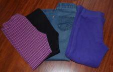 Uc! Lot of 4 girls jeggings fleece pants & leggings 5-6 Sonoma, Jumping Beans