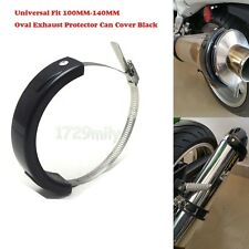 Universal Fit 100MM-140MM Oval Exhaust Protector Can Cover Black GSX-R 600 750