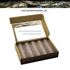 100 Stück Münzkapseln / Kapseln ** passend für 2 Euro Münzen ** Größe 26 mm **