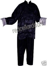 Silk Chinese Pajamas Men Woman Navy Blue Lounge Pants Top Size L Large New