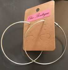 Earring Boho Festival Party Boutique Uk Silver Hoop 63mm Large Luxury Fashion