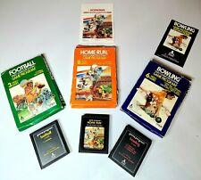 ATARI 2600 LOT OF 3 Football, Home Run, Bowling 1978 Pre-Owned Video Games
