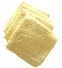 Vintage Martex Butter Yellow Wash Cloths 4 Count