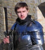 "Larp, fantasy, medieval costume, steel armour: pauldrons ""Combatant"" Halloween"