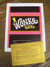 Willy Wonka & Chocolate Factory Replica Wonka Wrapper & Gold Ticket/Gene Wilder