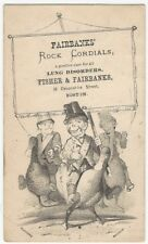 Victorian Fairbanks' Rock Cordials Lung Disorder Cure Patent Medicine Trade Card