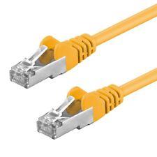 CAT5e Kabel F/UTP 1 / 10 Stück Patchkabel DSL LAN Netzwerkkabel gelb 0,25m - 20m