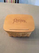 New Listing2003 Longaberger Recipe Basket With Lid