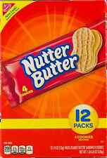 NEW NABISCO NUTTER BUTTER PEANUT BUTTER SANDWICH COOKIES 12 PACK FREE WORLD SHIP