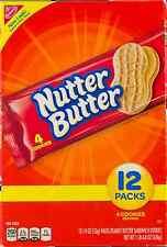 NEW NABISCO NUTTER BUTTER PEANUT BUTTER SANDWICH COOKIES 12 PACK FREE WORLD SHIP